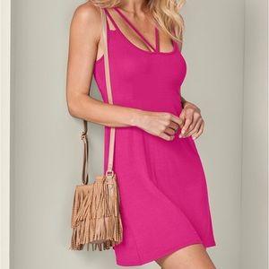 NEW Venus Pink Strappy Detail Sun Dress Small